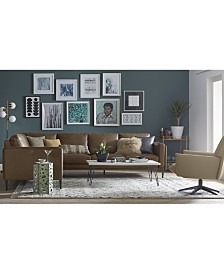 CLOSEOUT! Maida Leather Sectional Collection