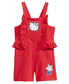 Hello Kitty Bow-Back Romper, Little Girls