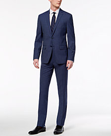 CLOSEOUT! Calvin Klein Men's Skinny Fit Infinite Stretch Navy Neat Suit