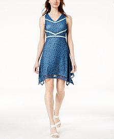 Love Scarlett Petite Printed Handkerchief-Hem Dress, Created for Macy's