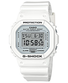 G-Shock Men's Digital White Resin Strap Watch 42.8mm