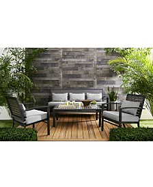 Marlough II Aluminum Outdoor Seating Collection, with Sunbrella® Cushions, Created for Macy's