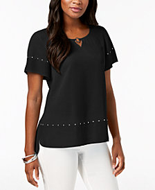 JM Collection Studded High-Low Top, Created for Macy's