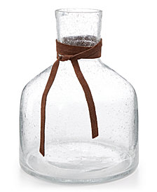 CLOSEOUT! Lucky Brand Short Bubble Vase with Leather Accent, Created for Macy's