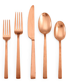 Lucky Brand Rumble Copper 20-Pc. Flatware Set