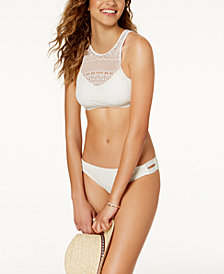 Roxy Surf Memory Crochet High-Neck Top & Bikini Bottoms