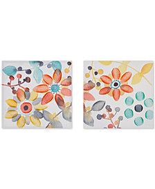 Intelligent Design Sweet Florals 2-Pc. Hand-Embellished Canvas Print Set