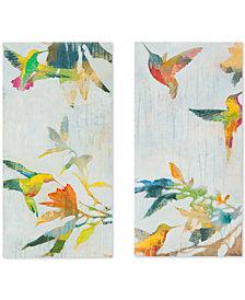 Madison Park Hummingbirds' Gel-Coated 2-Pc. Canvas Wall Art Set