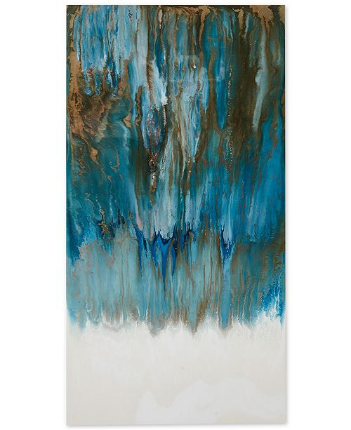 jla home madison park pearl sea 19 x 37 high gloss canvas wall
