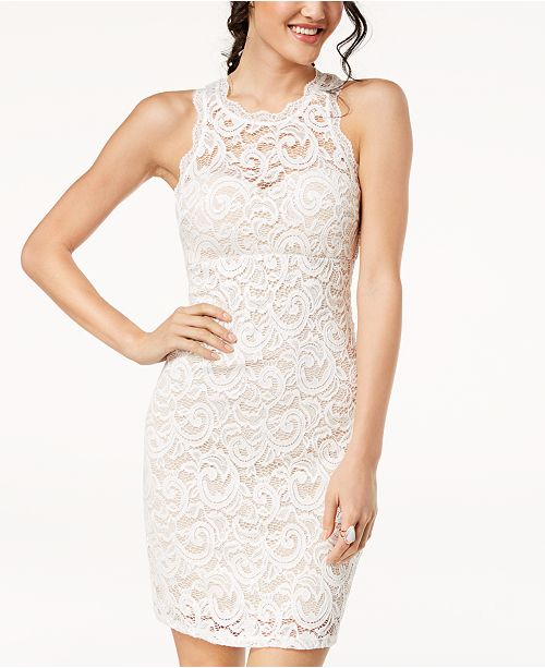 429f1fc73 Sequin Hearts Juniors' Sequined Lace Bodycon Dress; Sequin Hearts Juniors'  Sequined Lace Bodycon ...