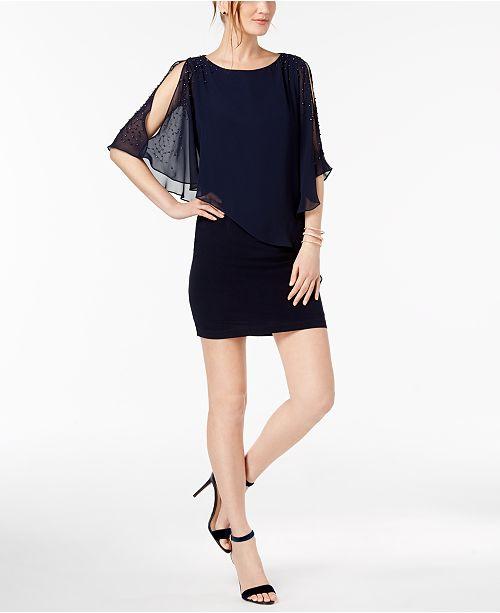 f47dc45155e XSCAPE Petite Capelet Sheath Dress  XSCAPE Petite Capelet Sheath Dress ...