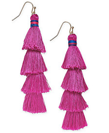 I.N.C. Gold-Tone Tiered Tassel Drop Earrings, Created for Macy's