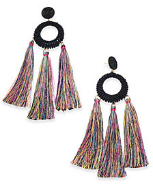 Trina Turk x I.N.C. Beaded Multi-Tassel Drop Earrings, Created for Macy's