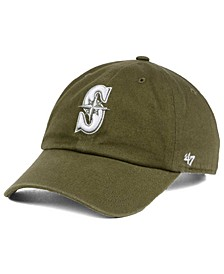 Seattle Mariners Olive White CLEAN UP Cap