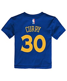Stephen Curry Golden State Warriors Replica Name & Number T-Shirt, Toddler Boys (2T-4T)