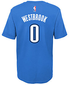 Nike Russell Westbrook Oklahoma City Thunder Replica Name & Number T-Shirt, Little Boys (4-7)