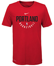 Nike Portland Trail Blazers Elite Practice T-Shirt, Big Boys (8-20)