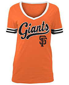 5th & Ocean Women's San Francisco Giants Retro V-Neck T-Shirt