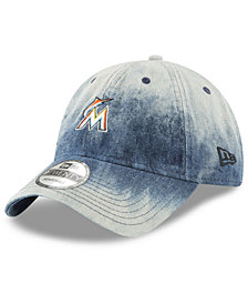 New Era Miami Marlins Denim Wash Out 9TWENTY Cap