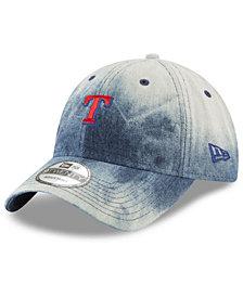 New Era Texas Rangers Denim Wash Out 9TWENTY Cap