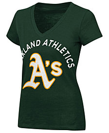 G-III Sports Women's Oakland Athletics Classic Logo V-Neck T-Shirt