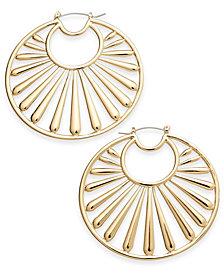 Trina Turk x I.N.C. Gold-Tone Fan Hoop Earrings, Created for Macy's