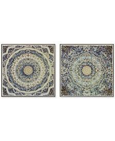 Harbor House Mosaic Mandalas 2-Pc. Crushed Glass Wall Art Set