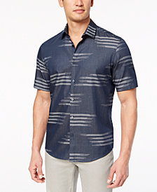 Alfani Men's Clark Geo-Print Shirt, Created for Macy's