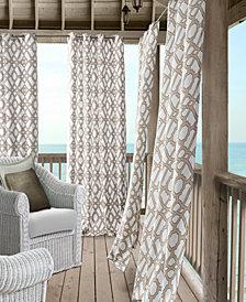 "Elrene Marin 50"" x 95"" Indoor/Outdoor Water-Repellent Grommet Curtain Panel with 50+ UV Protection"