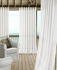 Carmen Sheer Extra-Wide Indoor/Outdoor Grommet Curtain Panels with Tiebacks
