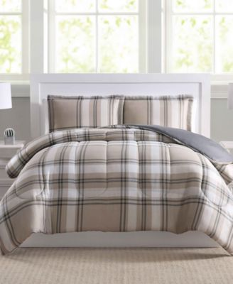 Basic Plaid 3-Pc. Full/Queen Comforter Set, Created for Macy's