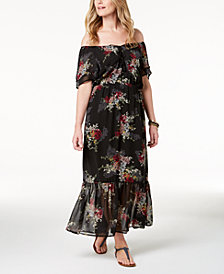 Style & Co Off-The-Shoulder Maxi Dress, Created for Macy's