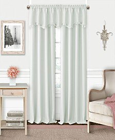 Elrene Kids' Adaline Faux-Silk Blackout Rod Pocket Curtain Panel & Valance Collection