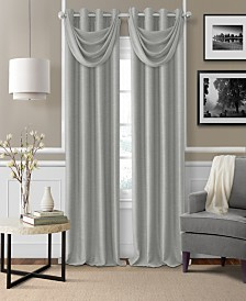 Elrene Brooke Faux-Silk Blackout Grommet Curtain Panel & Valance Collection
