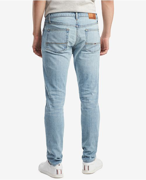 3a5a6444 ... Tommy Hilfiger Tommy Hilfiger Men's Slim-Fit Stretch Tapered Denim Jeans,  Created for Macy's ...