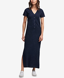 DKNY Cotton V-Neck Maxi Dress