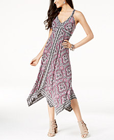 I.N.C. Petite Handkerchief-Hem Midi Dress, Created for Macy's