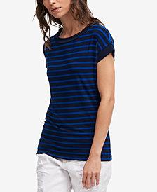 DKNY Crew-Neck Striped T-Shirt
