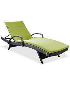 Lunada Bay Outdoor Chaise Lounge, Quick Ship