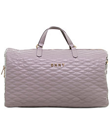 DKNY Allure Quilted Duffel Bag, Created for Macy's