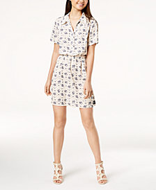 Calvin Klein Jeans Printed Fit & Flare Dress