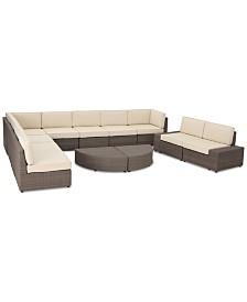 Baja Outdoor 12-Pc. Sectional Sofa Set, Quick Ship