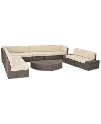 Baja Outdoor 12-Pc. Sectional Sofa Set, Quick Ship