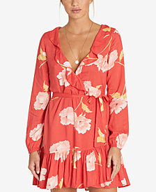 Billabong Juniors' Ruff Girls Club Ruffled Wrap Dress