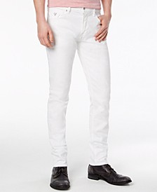 Men's Slim-Tapered Fit Stretch White Jeans