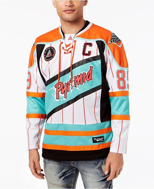 Black Pyramid Men s Printed Hockey Jersey - Hoodies   Sweatshirts ... 593d3304e