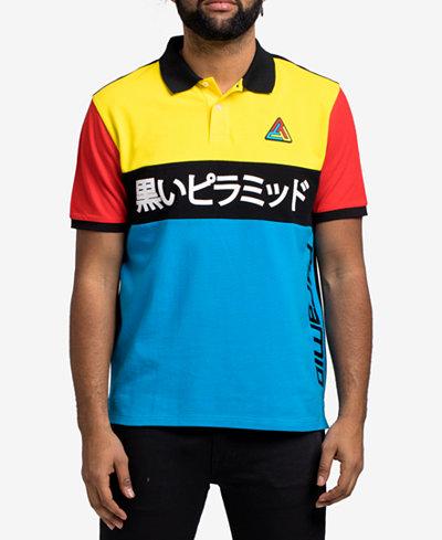 Black Pyramid Men's Colorblocked Polo