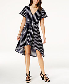 Crystal Doll Juniors' Striped High-Low Dress