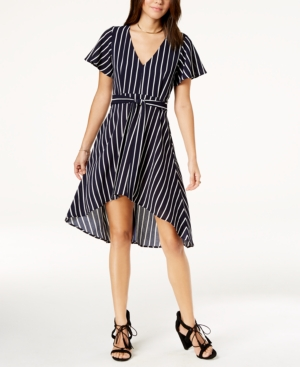 Crystal Doll Juniors Striped HighLow Dress