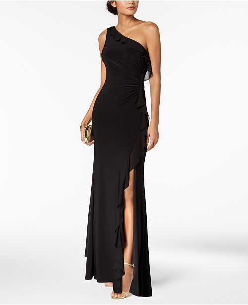 Vince Camuto One-Shoulder Ruffled Gown - Dresses - Women - Macy s 6578709fd4